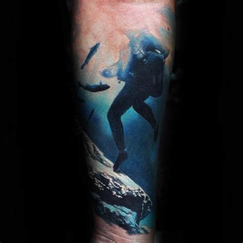 scuba diving tattoo designs scuba diver pictures to pin on tattooskid