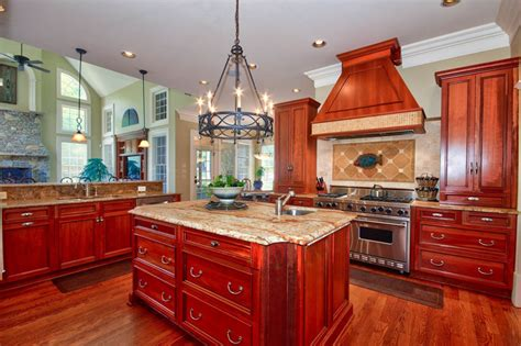 kitchen ideas with cherry cabinets 23 cherry wood kitchens cabinet designs ideas designing idea