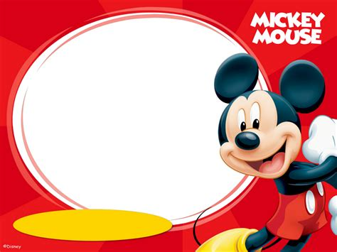 imagenes png mickey mouse marcos png de mickey mouse para ni 241 os marcos gratis