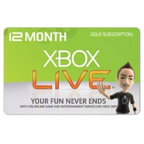 Xbox Live 12 Month Gold Membership Gift Card - xbox live 12 months subscription us gold membership card code emailed