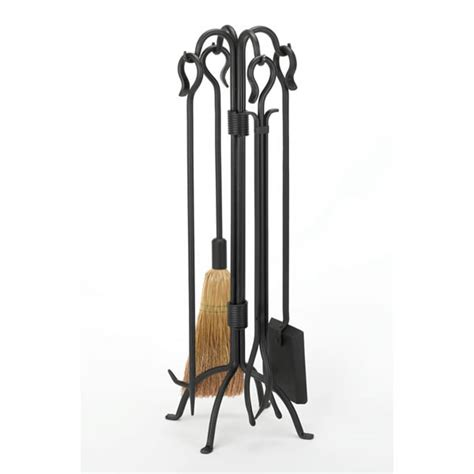 Black Wrought Iron Fireplace Tools woodfield black wrought iron 4 fireplace tool set