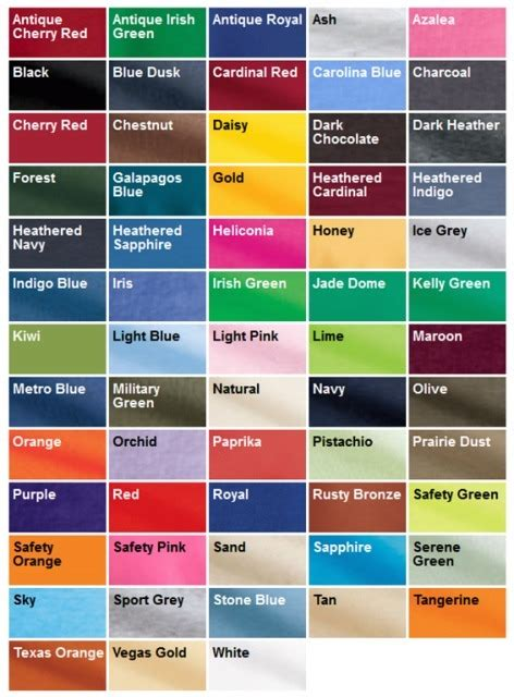 comfort colors color chart high school ink comfort colors c6014 sleeve t shirt