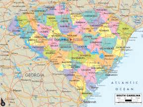 south county map map of south carolina outravelling maps guide