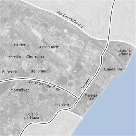 mapa de churriana malaga locales  naves en venta