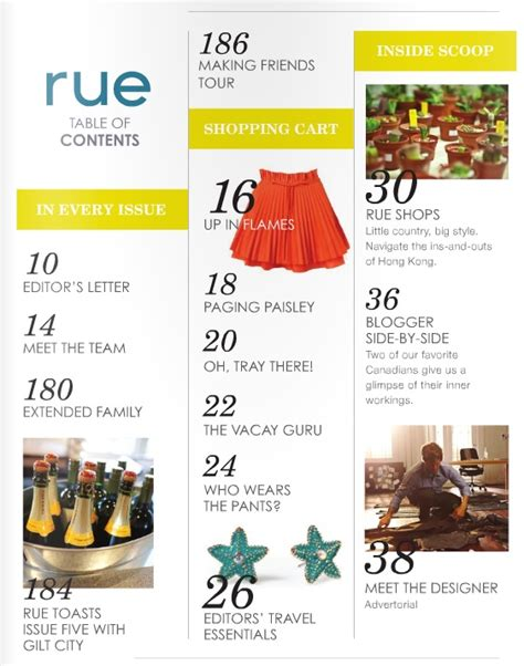 Table Of Contents Magazine Www Pixshark Com Images Galleries With A Bite Magazine Table Of Contents Template
