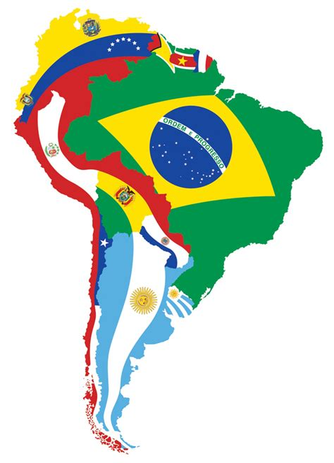 south america map and flags south american flag map visual ly