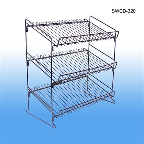 Countertop Wire Display Racks by Metal Wire Display Countertop 3 Shelf Display Rack Retail