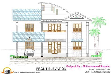 kerala home design 2d modern 237 sq m house plan kerala home design and floor