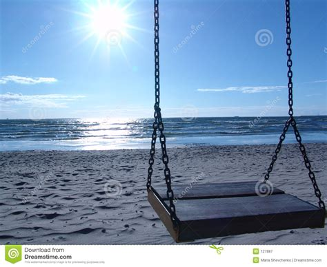 swings on the beach swing on the beach royalty free stock photography image