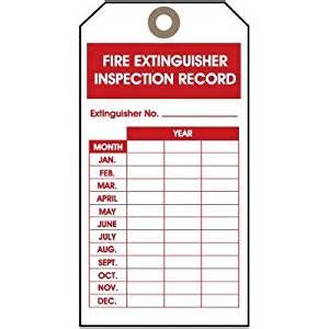 extinguisher inspection tag template extinguisher monthly log pictures to pin on