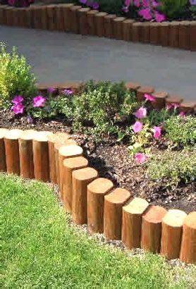 wooden post edging garden edging pinterest wooden