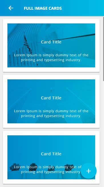 ionic card teaser template ionic 3 ui theme template app material design blue