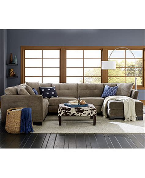 Elliot Fabric Sectional Living Room Furniture Collection by Elliot Fabric Sectional Living Room Furniture Collection