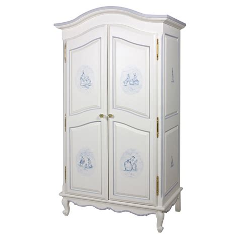 french armoire in antico white with petit moi motif by art
