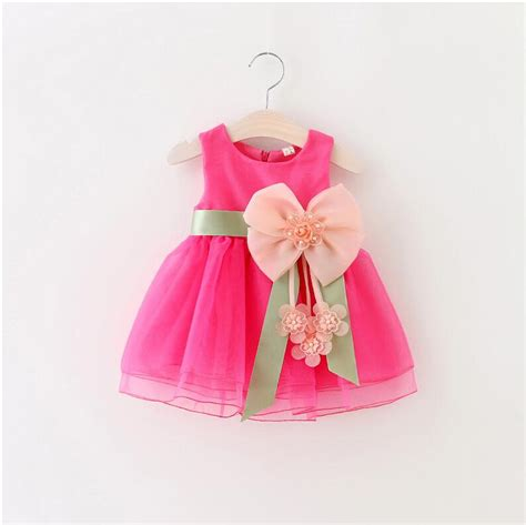 Dress Baby 2017 baby dress big bowknot infant dress for