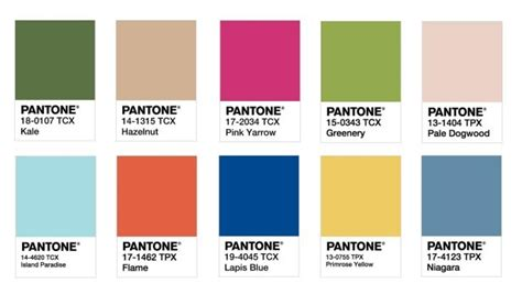 hot colors for 2017 pantone reveal top ten trend colours for 2017 design insider