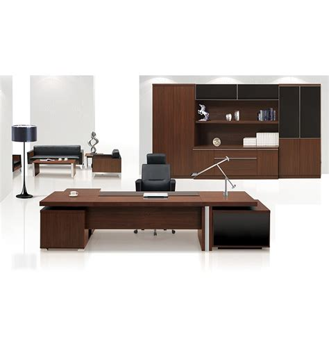 Modern High End Black Oak Chocolate Malamine Executive High End Executive Office Furniture