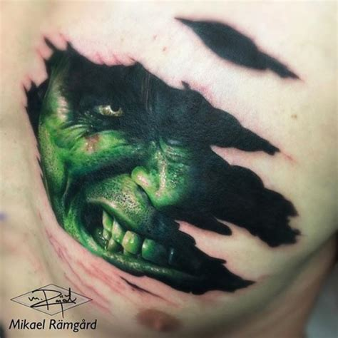 3d tattoo on black skin hulk face 3d tattoo under skin 3d tattoo pinterest