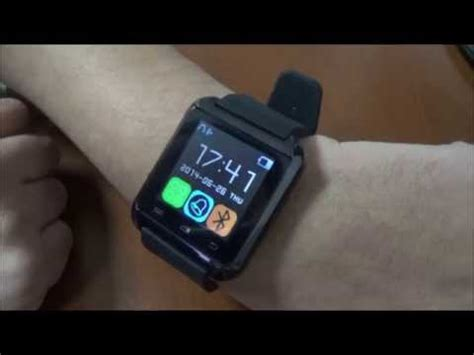 tutorial uwatch uwatch u8 bluetooth smart watch for android mobile revi