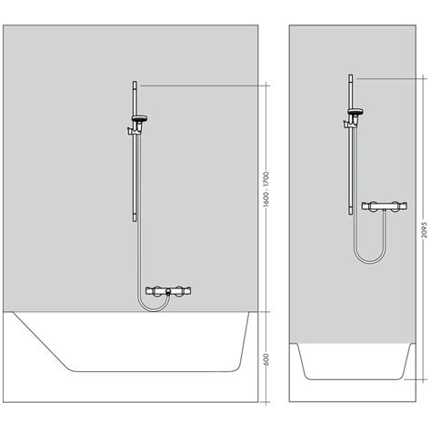 Hansgrohe Shower Sets by Hansgrohe Croma Select S Vario Ecosmart Shower Set 0 65m