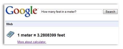 feet in a meter daily artisan 187 14 awesome google tricks you may not be using