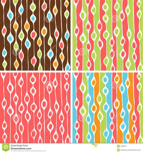 vector pattern with colorful blobs funky blobs pattern set royalty free stock photography