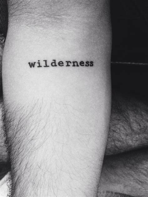wilderness tattoo forearm tattoos pinterest