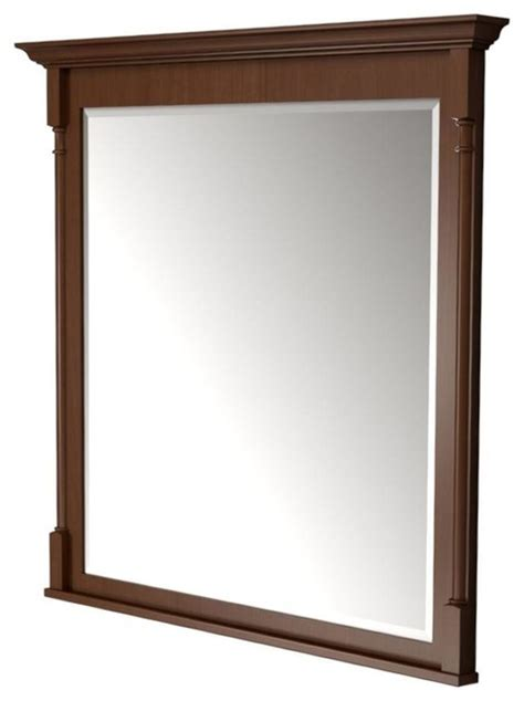 Home Depot Bathroom Vanity Mirrors by Kraftmaid Mirrors 42 In L X 42 In W Framed Wall Mirror In Autumn Blush Stain