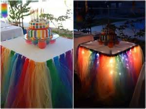 how to diy no sew tulle tutu table skirt fab diy