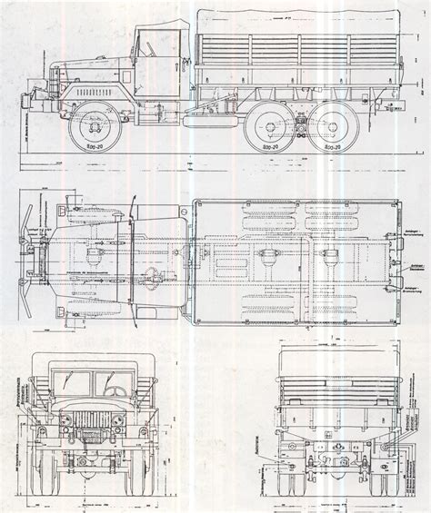 Air Force 1 Layout m35 cargo truck blueprint download free blueprint for 3d