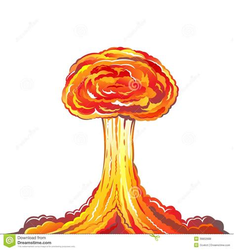 Nuclear Explosion Stock Vector - Image: 39802688 Explosion White Background