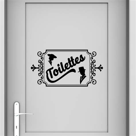 stickers porte chambre sticker design toilettes standard stickers toilettes