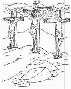 coloring pages jesus crucified planşe de colorat răstignirea viaţa la ţară