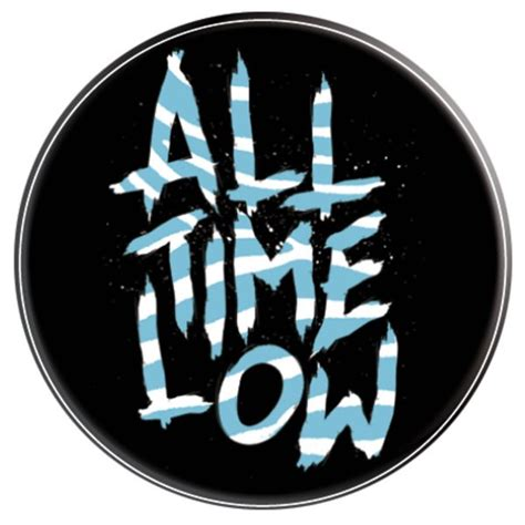 Tshirt All Time Low Blue Logo Kaos T Shirt Atl all time low badge buy at grindstore