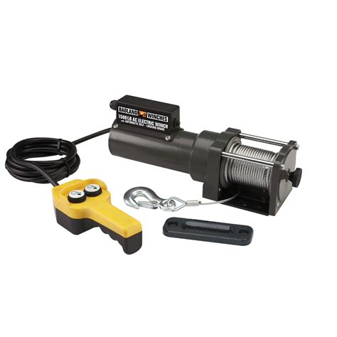 lbs capacity  volt ac electric winch
