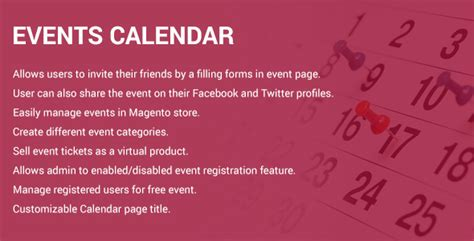 Magento Calendar Extension Events Calendar Magento 2 Extension Magewallet