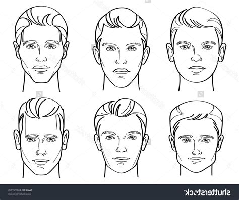 different head shapes men drawing male face shape types drawing of sketch