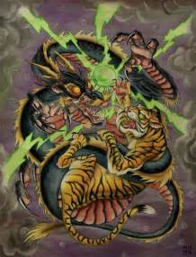 dragon tiger by matt maguire witch city ink custom