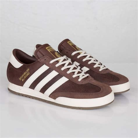Adidas Casual Browni adidas originals beckenbauer brown shoes mens leather casual sports trainers ebay