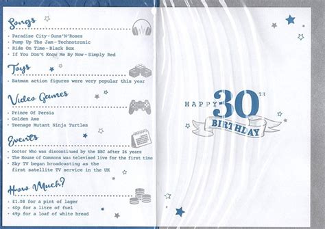 birthday age   year card    special year blue