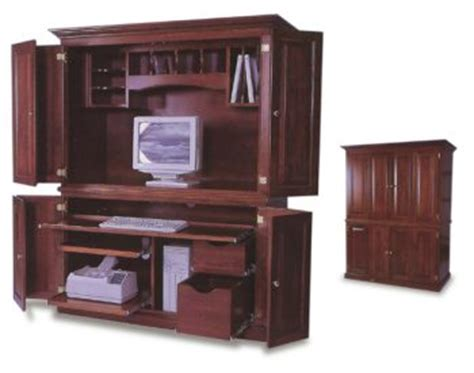 locking computer armoire amish office computer armoire amish office furniture