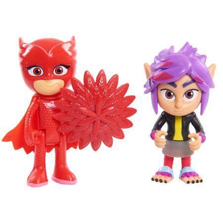 pj masks hero & villain 2pk basic owlette and wolfie rip