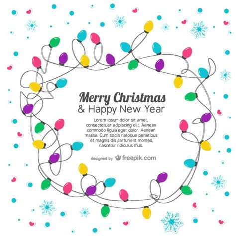 Card Template With Lights by Card Template With Colorful Lights Vector Free