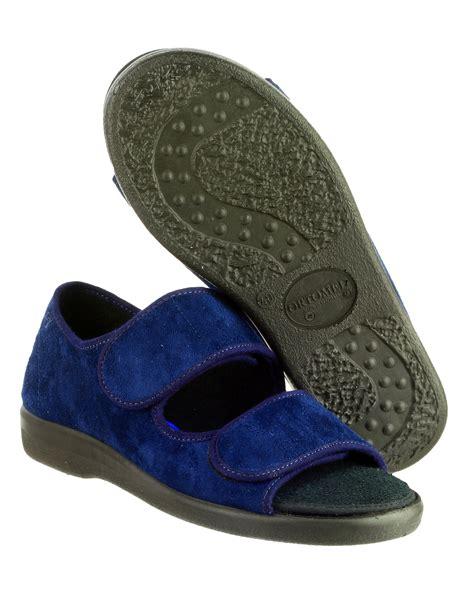 open toe mens slippers gbs brompton touch fastening open toe slipper mens womens