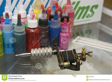 tattoo gun ink tattoo gun with needles and ink stock images image 7904794