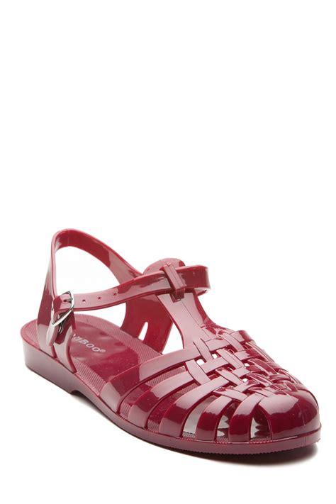 Flatshoes Glosy 2warna oxblood glossy jelly flat sandals cicihot sandals shoes store sale sandals