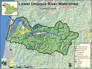 oregon river map umpqua river map