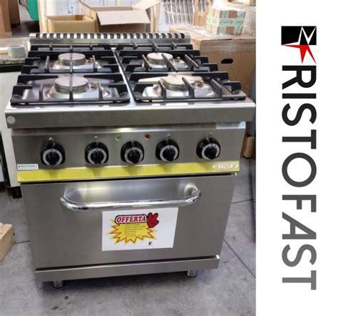 cucine a gas professionali usate cucina gas 4 fuochi su forno professionale a lissone