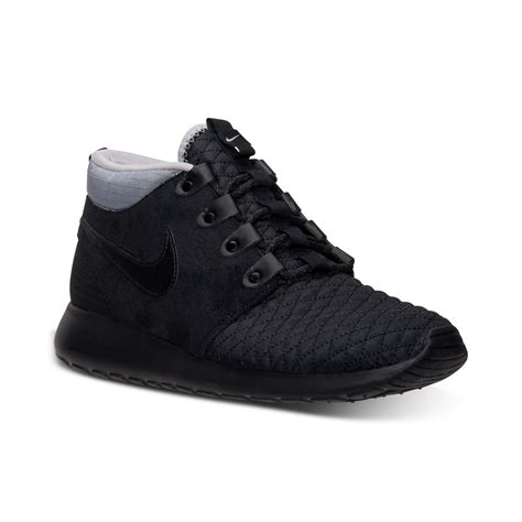 mens winter sneakers nike mens roshe run mid winter outdoor casual sneakers