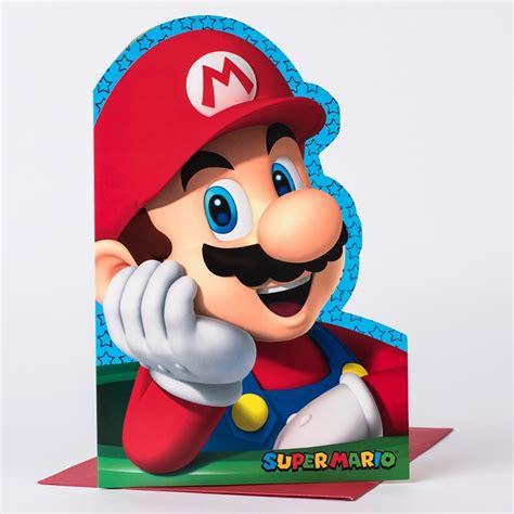 Mario Birthday Card Template by Mario Birthday Card Gangcraft Net